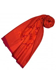 Scarf Silk Cotton Paisley Red For Women LORENZO CANA
