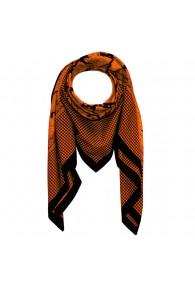 Scarf Silk Cotton Paisley Orange For Men LORENZO CANA