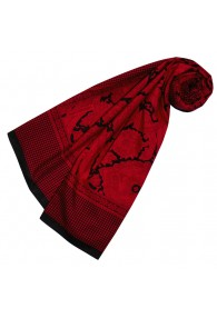 Silk Scarf Cotton Paisley Dark Red For Women LORENZO CANA