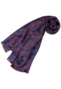 Silk scarf ladies violet pink light blue Paisley LORENZO CANA