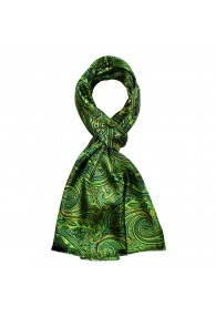 Silk Scarf Men green turquoise light blue Paisley LORENZO CANA