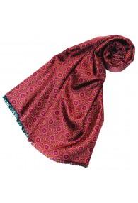 Women's Scarf Silk Wool Polka Dot Burgundy LORENZO CANA