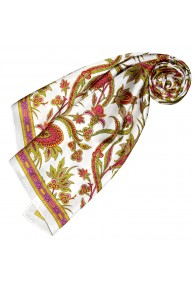Silk scarf White Paisely LORENZO CANA