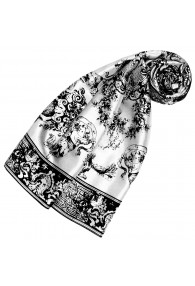 Silk scarf white floral LORENZO CANA