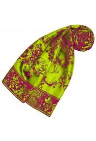 Silk scarf green floral LORENZO CANA