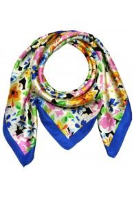 Silk scarf multicolored Floral LORENZO CANA