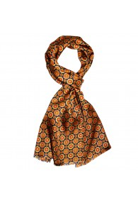 Silk scarf Gold dotted LORENZO CANA