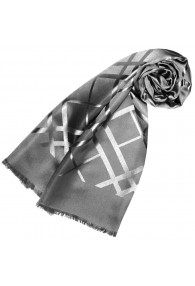 Lady scarf silk noble in silver LORENZO CANA