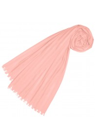 Scarf for women pink cotton LORENZO CANA
