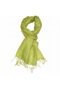 Men's Scarf 100% Linen Unicolored Green LORENZO CANA