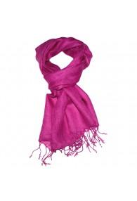 Men's Scarf 100% Linen Unicolored Pink LORENZO CANA