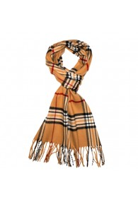 Scarf For Men Comfortable Brown Black LORENZO CANA
