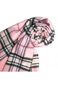 Schal für Damen Polyacryl rosa schwarz weiss LORENZO CANA