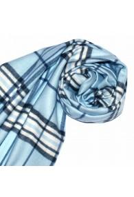 Schal für Damen Polyacryl hellblau blau weiss LORENZO CANA