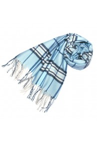 Scarf For Men Soft Blue White LORENZO CANA