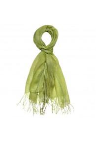 Herrenschal 100% Leinen Zweifarbig grasgrün hellgrün LORENZO CANA
