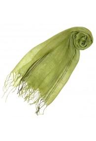 Damenschal 100% Leinen Zweifarbig grasgrün hellgrün LORENZO CANA