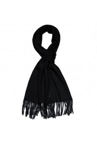 Scarf For Men Noble Black LORENZO CANA