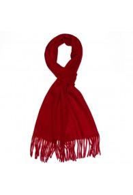 Men's Shawl 100% Cashmere Red Intense Red LORENZO CANA