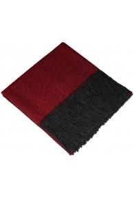 Blanket 100% Alpaca Fair Trade Red Black LORENZO CANA