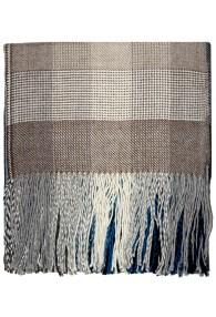 Blanket 100% Alpaca Fair Trade Blue Brown Checked LORENZO CANA