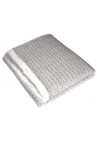 Blanket 100% Cashmere Light Grey White LORENZO CANA