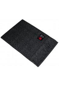 Sofa Blanket 100% Alpaca Grey Black Aztec Pattern LORENZO CANA