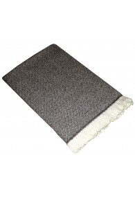 Sofa Blanket 100% Cashmere Grey White LORENZO CANA