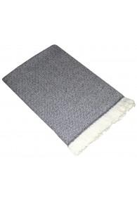 Sofa Blanket 100% Cashmere Light Grey White LORENZO CANA