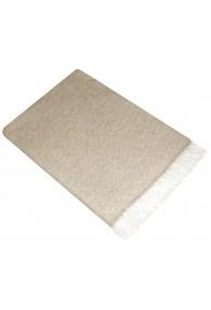 Sofa Blanket 100% Cashmere Light Brown White LORENZO CANA