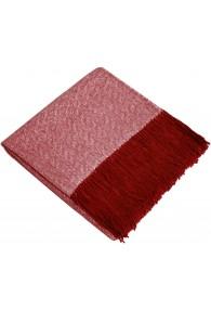 Sofa Blanket 100% Alpaca Red White LORENZO CANA