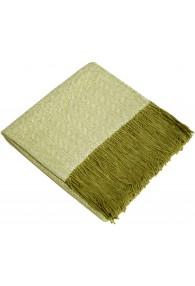 Sofa Blanket 100% Alpaca Green White LORENZO CANA