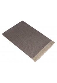 Sofa Blanket 100% Cashmere Brown White Stripe LORENZO CANA