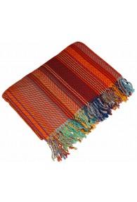 Blanket orange brown blue LORENZO CANA