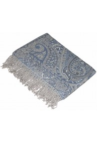 Blanket grey dove blue LORENZO CANA