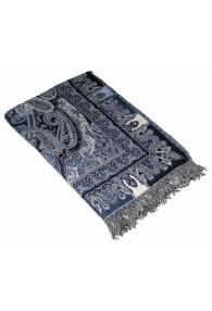 Blanket Black Blue Beige LORENZO CANA