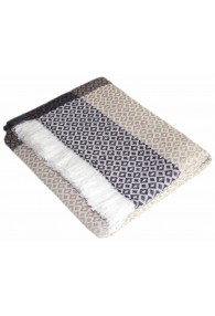 Cashmere Blanket Grey White Beige LORENZO CANA