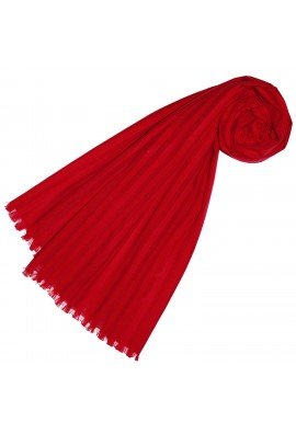 Scarf for women red cotton LORENZO CANA