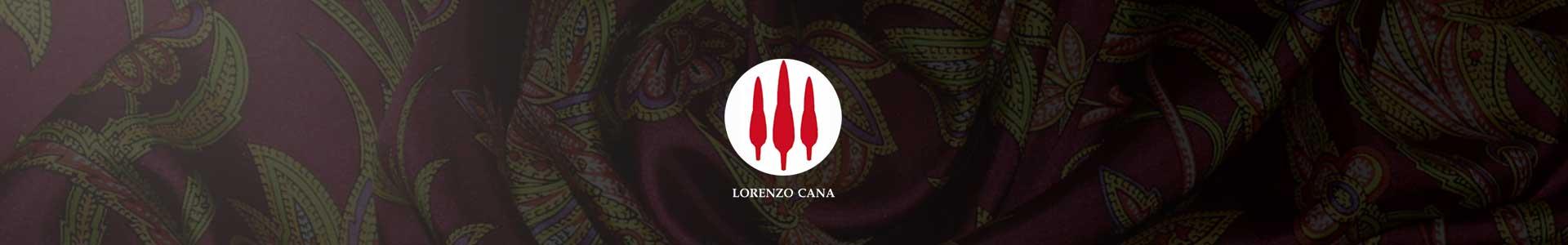 LORENZO CANA Logo and Silk Scarf